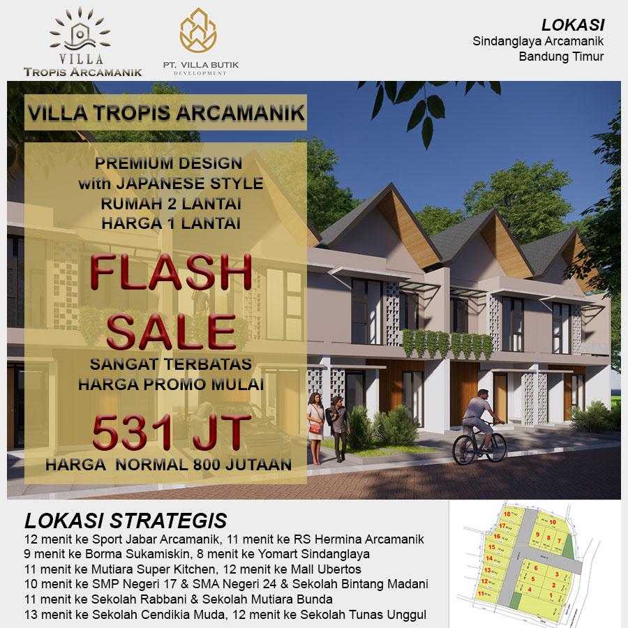 VILLA TROPIS ARCAMANIK - Rumah Villa 2 Lantai Bergaya Jepang Murah Bandung Timur